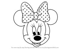 Learn How to Draw Minnie Mouse Face from Mickey Mouse Clubhouse (Mickey Mouse Clubhouse) Step by Step : Drawing Tutorials Minnie Mouse Face Painting, Minnie Mouse Drawing, Mickey Mouse Drawings, Mickey Mouse Pictures, Mickey Mouse Coloring Pages, Disney Coloring Pages, Walt Disney, Mickey Mouse Crafts, Mickey Mouse Clubhouse