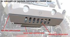 JK Front Lower Bumper Skid (Vanguard, Crusader, Mauler) 07-16 Bare JCR Offroad