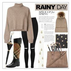 """Splish Splash"" by rafaelas12 ❤ liked on Polyvore featuring Topshop, Rejina Pyo, Burberry, Pasotti Ombrelli, Kate Spade, Gvyn and Accessorize"