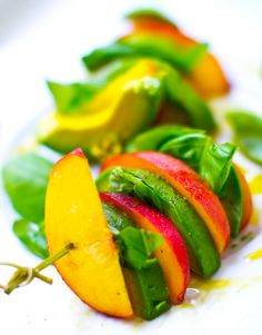 That's a Wrap! Peach Basil Avocado Balsamic + Green Cashew Banana.