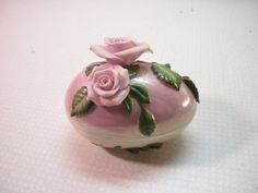 Fitz and Floyd Porcelain Rose Easter Egg by DoorCountyBlues, $18.00