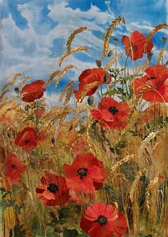 Amanda Richardson - Barley Field with Poppies - Textile collage Art Floral, Landscape Art Quilts, Thread Painting, Silk Painting, Flower Quilts, Textile Artists, Fabric Art, Love Art, Art Pictures
