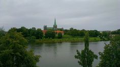 Nidarosdomen cathedral and the river Nidelven. Trondheim, Norway, Cathedral, River, Nature, Outdoor, Outdoors, Naturaleza, Outdoor Games