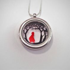 Red Riding Hood Papercut Pendant by Studio Charley, the perfect gift for Explore more unique gifts in our curated marketplace. White Gift Boxes, Red Riding Hood, Uk Shop, Little Red, Plaque, Paper Cutting, Book Art, Fairy Tales, Unique Gifts