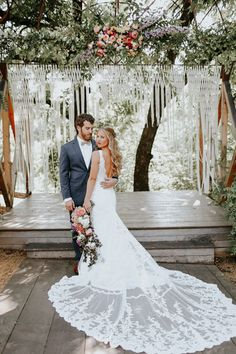 Don't get us started on how stunning the train is on this wedding gown   Image by Melissa Marshall