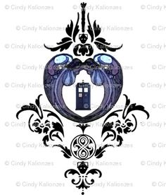 doctor who damask, great tattoo idea!!  @Shelly Figueroa Figueroa ingraham