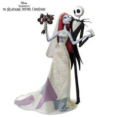 Collector's Edition fully sculpted, hand-painted Jack and Sally romance dolls, are poseable, and wear custom hand-finished fabric ensembles.