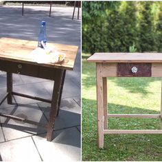 Wooden #table -  before & after 🔧🔨 #wood #desk #stół #restoration #renovation #renowacja #starocie #vintage #interiordesign #oldwood #vintagefurniture #vintagehomedecor #vintage #home #beforeandafter #vintagestyle #vintagedesign #interior #oldfinds #starocie #sunnyday