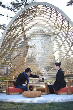 透过层层叠叠的阳光 栖息着另-陌尚设计@佛小姐采集到环境设计(228图)_花瓣 Melbourne Hotel, Bamboo Structure, Hanging Chair, Cabins, Houses, Architecture, Nature, Inspiration, Ideas