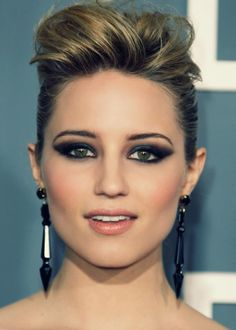 dianna agron, eyes, makeup, face, earrings
