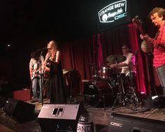 Birthday girl @kmickwee singing a new one over at @strangebrewatx tonight. So good. #texasmusic #austinmusic #livemusic #songwriter