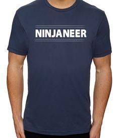 Ninjaneer Shirt Funny Engineer Shirts Engineering by threadedtees