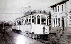 Tranvía da liña Vigo-Baiona na estación da Florida