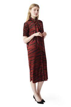 Iona Silk Dress, Brick Tiger