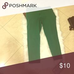 Cropped slacks Green slacks Pants Capris