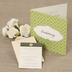 Green Spring Wedding - Einladung