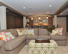 Basement Game Room Design, Pictures, Remodel, Decor and Ideas - page 27 like the green automan for family room