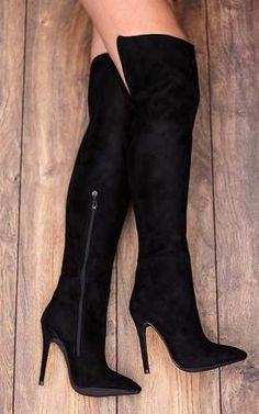 5e987cca069 FREMONT High Heel Stiletto Over Knee Tall Boot... - SilkFred Over The Knee