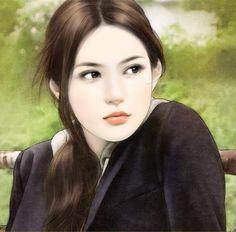 Beautiful Sweet Girls : Beautiful Girls illustrations (Vol. Chinese Romance Novels, Chinese Drawings, Chinese Art, Chinese Painting, Interesting Drawings, Romance Novel Covers, Female Drawing, Beautiful Chinese Girl, Art Of Beauty