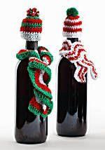Image of Crochet Wine Bottle Hats & Scarves