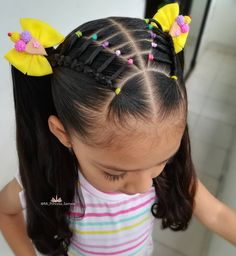 Cute Toddler Hairstyles, Kids Curly Hairstyles, Baby Girl Hairstyles, Trendy Hairstyles, Hair Ponytail Styles, Hair Styles, Curly Hair Baby, Short Hair For Kids, Girls Hairdos