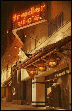 Trader Vic's, Seattle (1960). My wedding night dinner here! 1978 :)