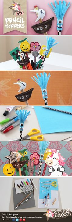 Ready for backtoschool? This is an easy DIY tutorial just for you! How to make pencil toppers!