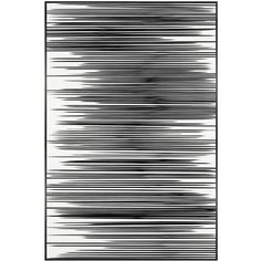 Art Addiction Inc. Horizontal Lines Wall Art ($942) ❤ liked on Polyvore featuring home, home decor, wall art, backgrounds, filler, accessories, art, embellishment, black and white and black & white wall art