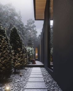 Yard House is designed and visualized by architect and is located in Kozyn, Ukraine. Dream Home Design, Modern House Design, Modern Houses, Budget Home Decorating, Beaux Villages, Forest House, Dream House Exterior, Black House, House Colors
