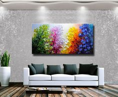 Pintura abstracta de la pared espátula pintura abstracta