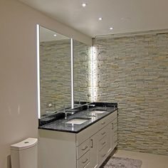 Recessed Led Vanity Lights : 1000+ images about Vanity lights on Pinterest Sconces, Led wall sconce and Wall sconces