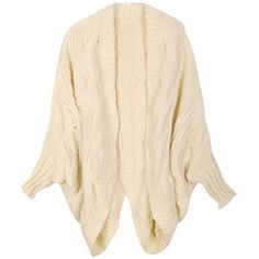 Cream colored knit cardigan