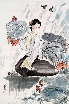 Traditional Chinese Art - Exhibition to be held in Shanghai, China Painting People, Figure Painting, Chinese Arts And Crafts, China Art, Orient, Chinese Painting, Portrait Art, Portraits, Simple Art
