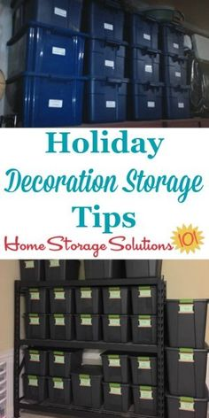 Tips for holiday decoration storage in your home, including photos from readers showing how they've stored this decor for annual use {on Home Storage Solutions Holiday Storage, Christmas Storage, Christmas Fun, Christmas Ornaments, Attic Storage, Craft Storage, Storage Ideas, Creative Storage, Closet Storage