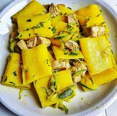 Paccheri con tonno fresco, zafferano e zucchine – Habemus Fame