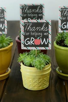Teacher Appreciation Thanks For Helping Me Grow Printable