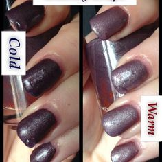 Gloomy grape Thermal nail polish hand poured by Echoes Polish