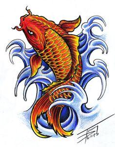 koi fish tattoo designs koi fish design by tommyphillips on Pez Koi Tattoo, Coy Fish Tattoos, Koi Dragon Tattoo, Japanese Koi Fish Tattoo, Koi Fish Drawing, Fish Drawings, Koi Tattoo Design, Japan Tattoo Design, Tattoo Designs