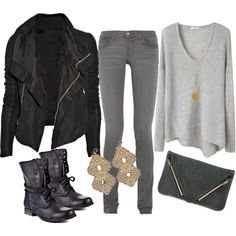 Wish I could pull this off, it's a little too biker chic for me.