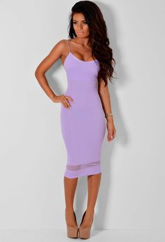473c53c691 Missguided Ryana Ribbed Bodycon Midi Dress In Lilac in Purple