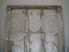 holiday decor vintage doilies upcycling shabby chic by ShabbyRoad, $7.95