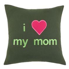 I Heart My Mom Pillow