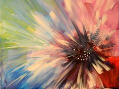 Abstract Flower Print By Karen A Mesaros