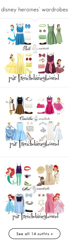 """disney heroines' wardrobes"" by frenchdisneybound Cute Disney Outfits, Disney Princess Outfits, Disney Themed Outfits, Disney Dresses, Disney Bound Outfits Casual, Movie Outfits, Disney Clothes, Disney Princesses, Casual Outfits"