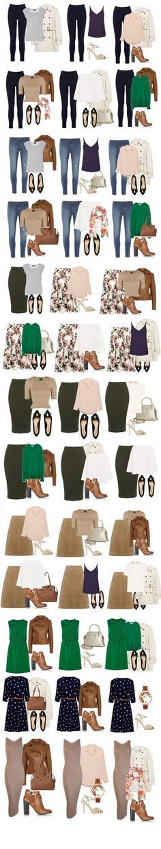 capsule wardrobe outfit combinations for spring