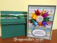 Troppostella's Style: Card fiore con nastri
