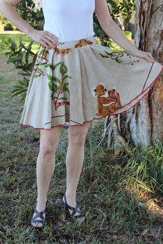Vintage Tablecloth Circle Short Skirt - KOALA BEARS Australia Unbelievably Adorable LINEN