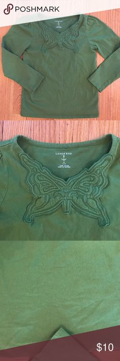 ☘️ St Patrick's Day Girl's Lands End Shirt ☘️ St Patrick's Day Girl's Lands End Shirt. 100% Cotton. Long sleeve. Excellent condition. Lands' End Shirts & Tops