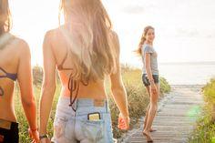 Teens at the Beach - Girls on boardwalk | Stephen Flint ...