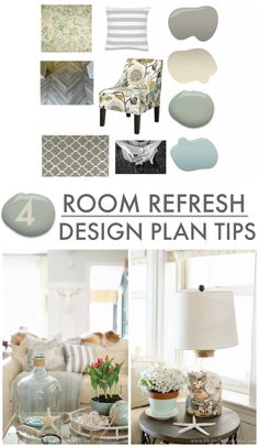 DIY DECORATING: 4 room refresh design plan tips. Good advice for redecorating a room.